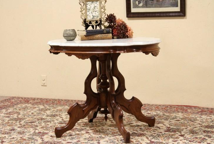 Permalink to Vintage Marble Top Side Table