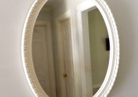 Vintage White Oval Mirror