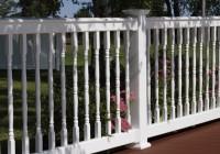 vinyl deck railing systems