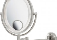 Wall Mounted Magnifying Mirror With Lighted 10x