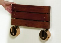 Wall Mounted Teak Shower Bench