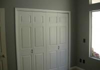 white bifold closet doors