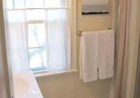 White Cafe Curtains Bathroom