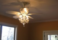 White Ceiling Fan With Chandelier Light Kit