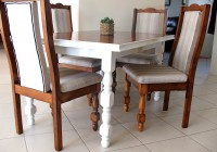 White Chair Cushions Dining Room