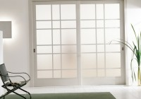 White Closet Doors With Frosted Glass