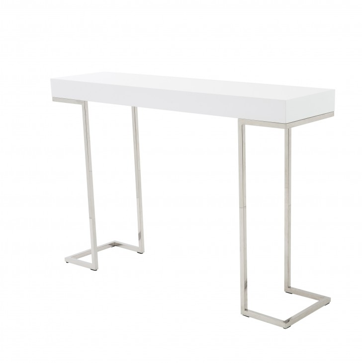 Permalink to White Contemporary Console Table