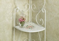 White Corner Accent Table