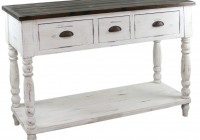 White Distressed Console Table