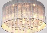 white drum shade crystal chandelier