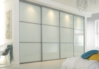 White Glass Closet Doors