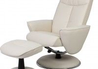 White Leather Recliner With Ottoman