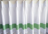 White Linen Cafe Curtains