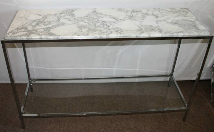 Permalink to White Marble Console Table