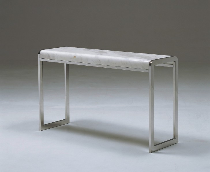 Permalink to White Marble Top Console Table