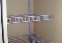 White Metal Closet Shelving