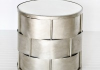 White Mirrored Accent Table