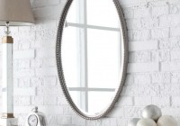 White Oval Bathroom Mirror