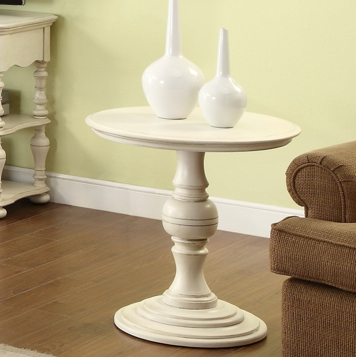 Permalink to White Round Accent Table