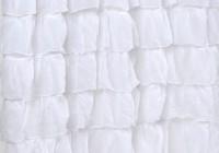 White Ruffled Curtains Shabby Chic