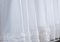 White Ruffled Window Curtains