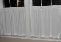 white sheer cafe curtains