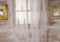 White Sheer Curtains With Gold