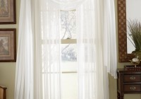 White Sheer Kitchen Curtains