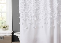 White Shower Curtain With Flowers