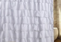 White Shower Curtains With Ruffles
