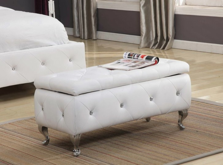 Permalink to White Tufted Ottoman Target