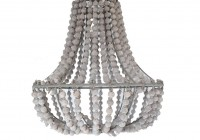 White Washed Wood Chandelier