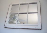White Window Pane Mirror