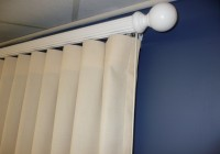 white wood curtain rods