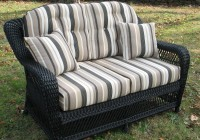 Wicker Loveseat Cushion Set