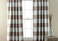 Wide Horizontal Stripe Curtains