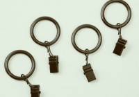 Wood Curtain Rings With Clips