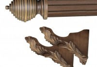 Wood Curtain Rod Brackets