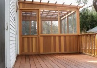Wood Deck Roof Designs