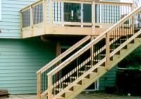 Wood Deck Stairs Designs
