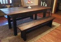 Wood Dining Room Table With Bench