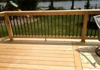 wood railings for decks