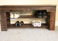 Wood Shoe Rack Bench