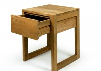Wood Side Table With Drawers