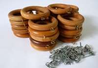 Wooden Curtain Rings With Eyelet