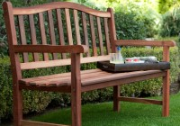 Wooden Garden Bench With Arch