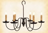 Wrought Iron Candle Chandelier Lighting