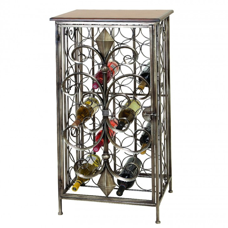 Permalink to Wrought Iron Console Table With Wine Rack