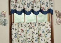 Yellow And Blue Floral Curtains