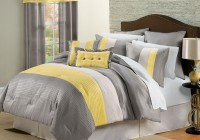 yellow and gray bedroom curtains